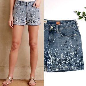 Anthropologie Pilcro Hyphen Splatter Jean Shorts